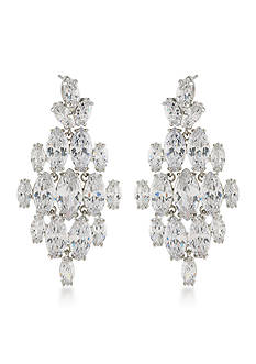 Carolee Silver-Tone Marquee Chandelier Earrings
