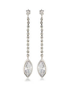 Carolee Silver-Tone Marquee Linear Earrings