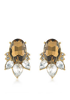 Carolee Gold-Tone Metropolitan Club Stud Earrings