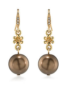 Carolee Gold-Tone Metropolitan Club Double Drop Earrings