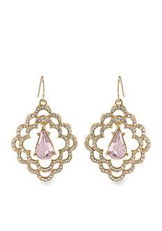 Carolee Feminine Scalloped Drop Earrings