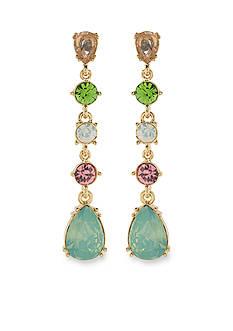 Carolee Gold-Tone Cosmopolitan Club Linear Drop Pierced Earrings