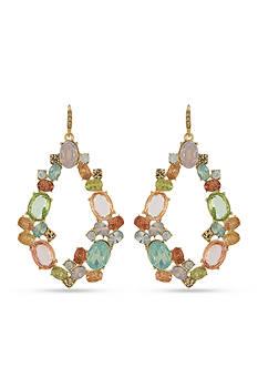 Carolee Gold-Tone Cosmopolitan Club Gypsy Hoop Pierced Earrings