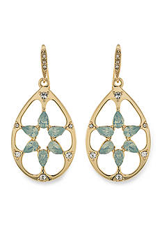 Carolee Gold-Tone Drop Cosmopolitan Club Pierced Earrings