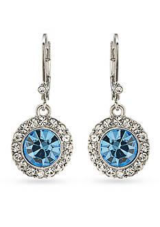 Carolee Silver-Tone Something Blue Stone Drop Pierced Earrings