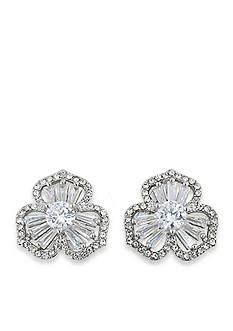 Carolee Silver-Tone Something Borrowed Stud Pierced Earrings