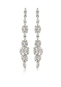 Carolee Silver-Tone Something Borrowed Linear Drop Pierced Earrings