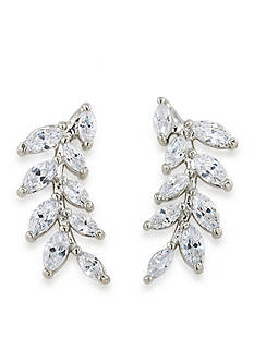 Carolee Silver-Tone Something Borrowed Ear Climber Pierced Earrings