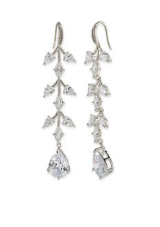 Carolee Silver-Tone Something Borrowed Statement Drop Pierced Earrings