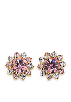 Carolee Feminine Glam Stone Cluster Stud Earrings