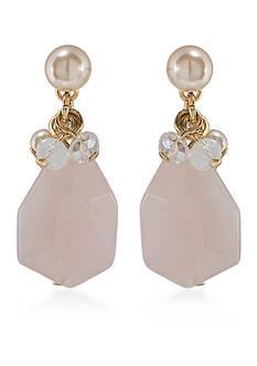 Carolee Gold-Tone Garden Party Double Drop Pierced Earrings