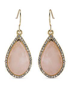 Carolee Gold-Tone Garden Party Stone Drop Pierced Earrings