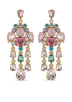Carolee Gold-Tone Garden Party Chandelier Earrings