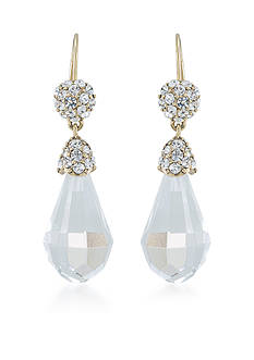 Carolee Gold-Tone LUX Collection Barcelona Baubles Crystal Drop Earrings