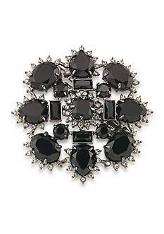 Carolee Hematite-Tone Gotham Cluster Pin