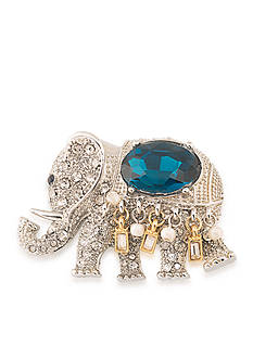 Carolee Silver-Tone Royal Elephant Pin