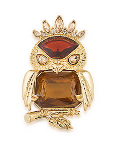 Carolee Gold-Tone Imperial Owl Pin