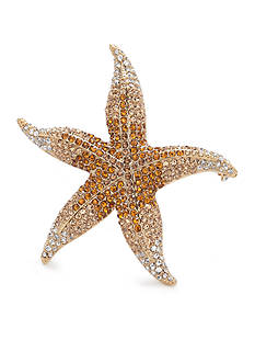 Carolee Limited Edition Gold-Tone Yellow Starfish Pin
