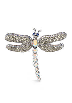 Carolee Limited Edition Silver-Tone Crystal Dragonfly Pin