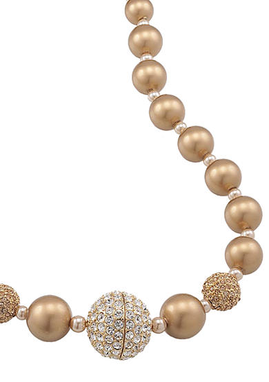 Carolee Gold Standard Graduated Bead Necklace