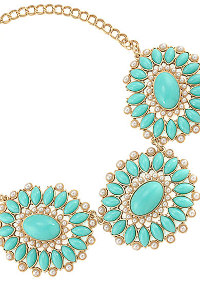 Carolee Blue Skies Dramatic Bib Necklace<br>
