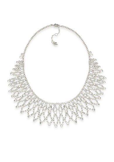 Carolee Crystal Stems Dramatic Frontal Necklace<br>