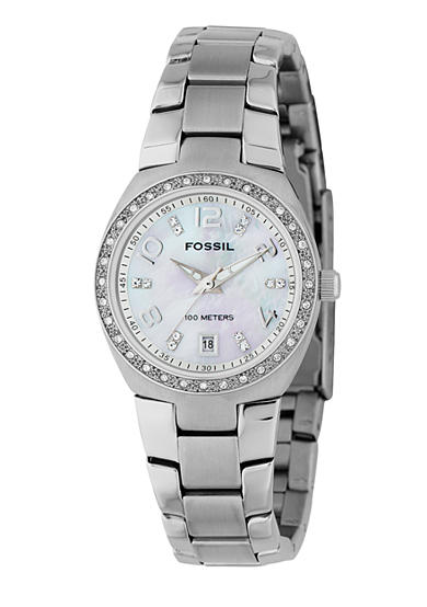 Fossil® Women's White Glitz Watch