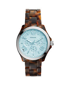 Fossil® Women's Cecile Tortoise Chronograph Watch