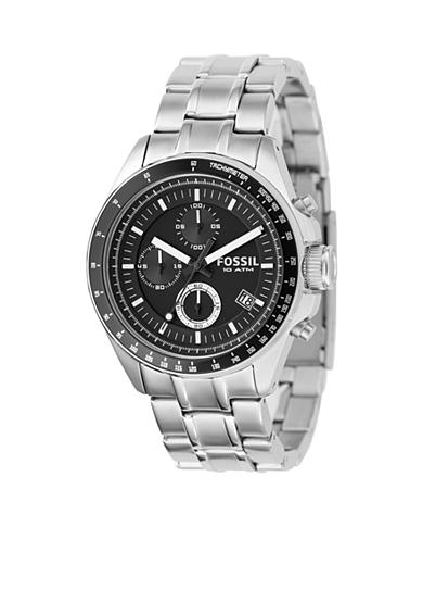 Fossil® Men's Black Dial Watch