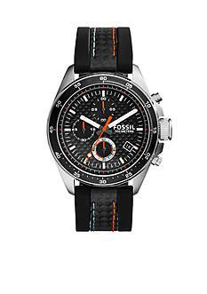 Fossil Decker Chronograph Black Silicone Watch