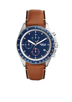 Fossil Men's Sport 54 Light Brown Leather Watch