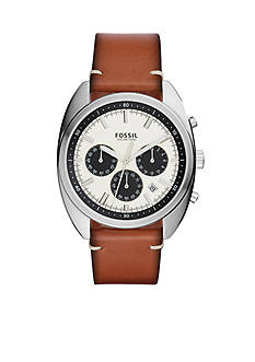 Fossil® Men's Drifter Chronograph Leather Watch