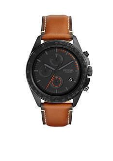 Fossil® Men's Sport 54 Chronograph Leather Watch
