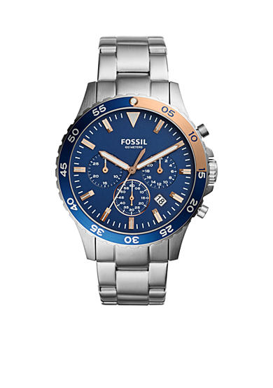 Fossil® Men's Crewmaster Sport Chronograph Stainless Steel Watch