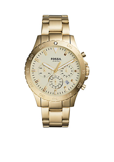 Fossil® Men's Crewmaster Sport Chronograph Gold-Tone Stainless Steel Watch