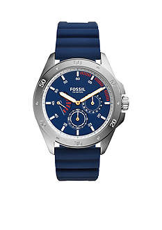 Fossil Men's Sport 54 Multifunction Blue Silicone Watch