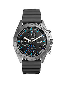 Fossil Men's Sport 54 Chronograph Gray Silicone Watch