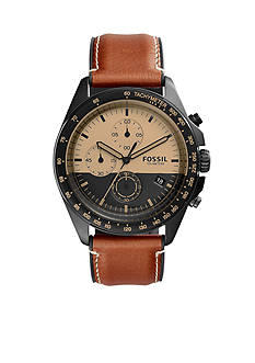 Fossil Men's Sport 54 Chronograph Luggage Brown Leather Watch