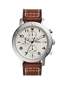Fossil® The Major Chronograph Brown Leather Watch