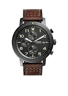 Fossil® The Major Chronograph  Leather Watch