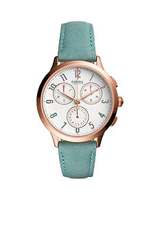 Fossil® Women's Abilene Sport Chronograph Leather Watch