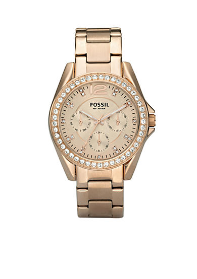 Fossil® Riley Rose Gold Bracelet Watch