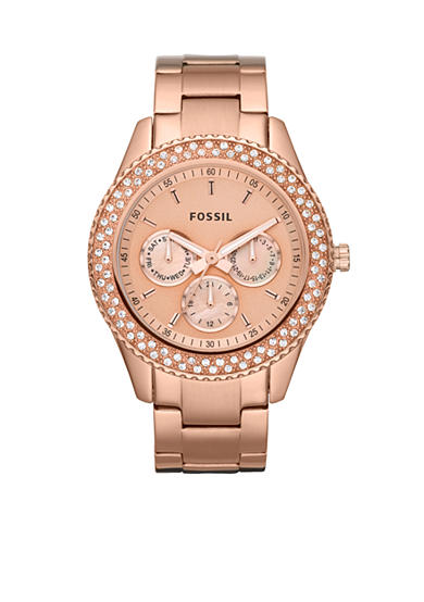 Fossil® Stella Rose Gold Watch