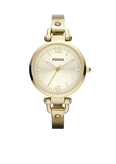 Fossil® Georgia Stainless Steel Gold Tone Watch