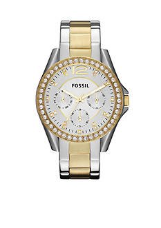 Fossil® Women's Riley Two-Tone Glitz Watch