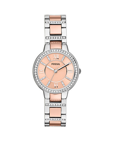 Fossil® Women's Two-Tone Stainless Steel Three-Hand Glitz Virginia Watch