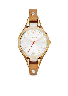 Fossil® Women's Brown Leather Three-Hand Georgia Watch