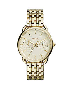 Fossil® Women's Gold-Tone Stainless Steel Tailor Multifunction Watch