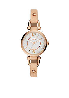 Fossil® Georgia Three-Hand Bone Leather Watch