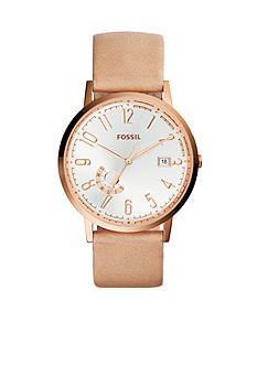 Fossil® Women's Vintage Muse Three-Hand Leather Watch
